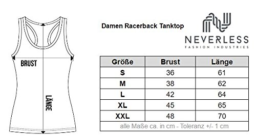 Damen Tank-Top Anker Steuerrad Anchor Wheel Neverless® Anker NY weiß
