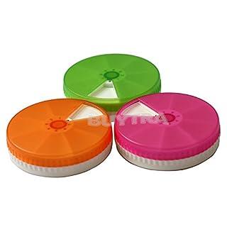 amazing-trading(TM 7 Day Weekly Round Tablet Pill Organizer Medizin-Kasten-Kasten-Halter-Behälter