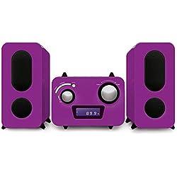 Bigben Interactive - Microchaîne violette Lecteur CD - Radio PLL FM Stéréo - 2 hauts parleurs