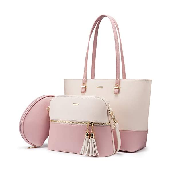 41VD4PRUaYL. SS600  - Bolso para mujer Señoras Shopper Hobo Bolso de hombro Monedero Bolso grande para mujer Tote para oficina Escuela Compras…