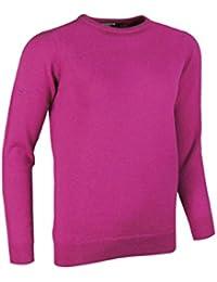 Glenmuir Golf-Pullover für Damen mit Rundhalsausschnitt, aus Lammwolle