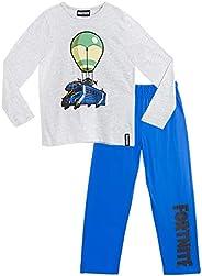 Fortnite Pijama Niño, Pijamas Niños con Diseño Battle Bus, Conjunto Niño Verano, Ropa Niño para Dormir, Regalo