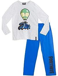 Fortnite Pijama Niño, Pijamas Niños con Diseño Battle Bus, Conjunto Niño Verano, Ropa Niño para Dormir, Regalos para Niños y Adolescentes Edad 7-14 Años