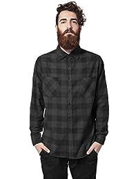 Urban Classics Herren Langarmshirt Bekleidung Checked Flanell Shirt