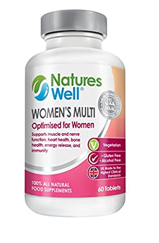 Women's Optimised Multivitamin, 100% Halal Certified & Kosher, 60 Vegetarian Tablets, Vitamins A, C, D, Vitamins B6, B12 and B1 Optimised Supplement for Women, Balanced Nutrients the Complete Multivitamins by Natures