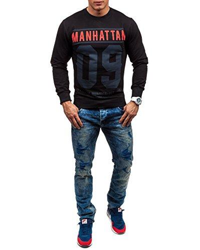 BOLF - Sweat-shirt - Maglione sportivo - con la stampa – MADMEXT 1223 - Uomo Nero