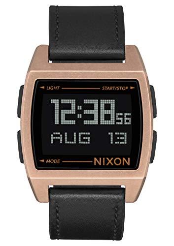 Nixon Unisex Erwachsene Digital Uhr mit Leder Armband A1181-872-00