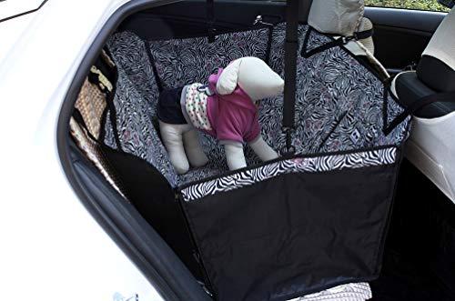 PET HOUND Coprisedile Auto Cane Tappetino per Auto per Animali Domestici Tappetino per Auto per Animali Domestici Antivegetativa per Auto con Stampa Zebrat