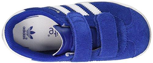 adidas Gazelle 2, Chaussures de Running Mixte Bébé Bleu (Collegiate Royal/ftwr White/ftwr White)