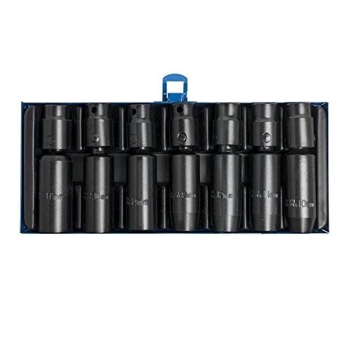 SW-stahl kraftkugelgelenkeinsätze 7 pièces de 10 à 17 mm, longue, coffret en métal, 07860L