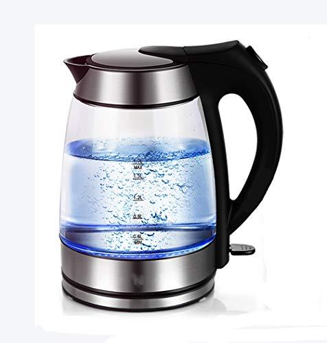 Bouilloire électrique en verre-Pot avec éclairage à LED, Pot de santé bouilli au thé noir - 1850w / 1,7L