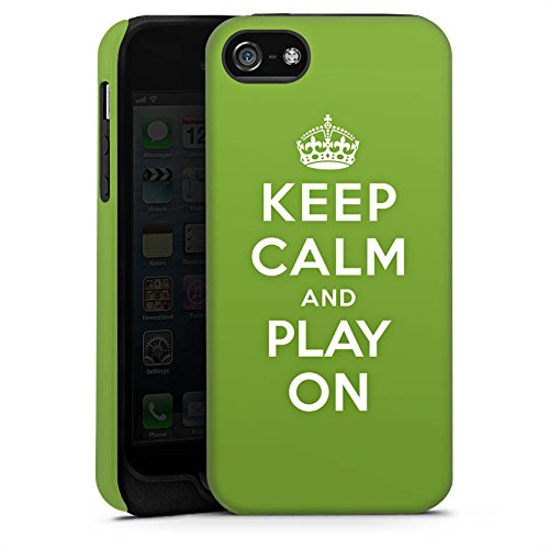 Apple iPhone X Silikon Hülle Case Schutzhülle Keep Calm Games Konsole Tough Case matt