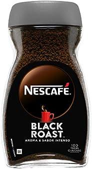 NESCAFÉ BLACK ROAST aroma y sabor intenso, café soluble, 100% café, frasco de cristal 200g
