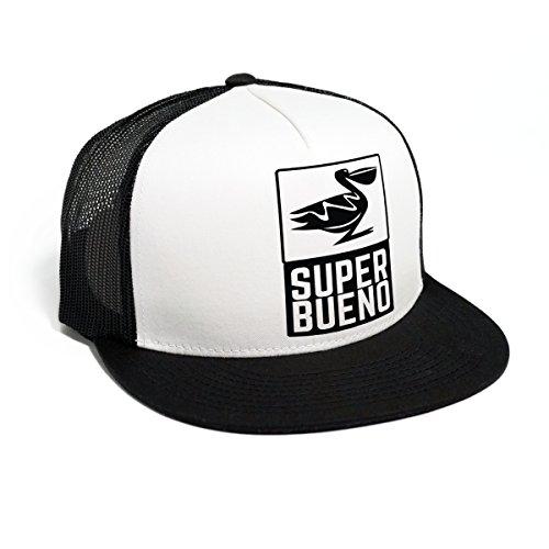 DEPARTED Herren Mesh Trucker Hat mit Print / Aufdruck - Snapback Cap - No. 57, black / white
