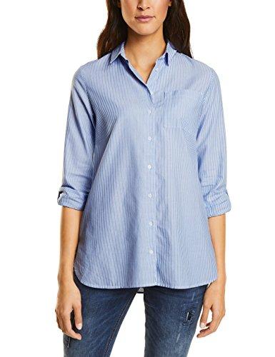 Street One Oxford Stripe, Blouse Femme Blau (Sailing Blue 20763)