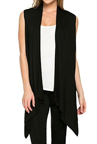 Aivtalk Women's Sleeveless Shirt Knitted Loose Vest Cardigan