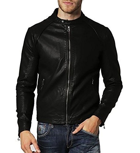 ZACHARIAS STYLISH FINE QUALITY LEATHER JACKET FOR MAN/BOYS (BLACK)