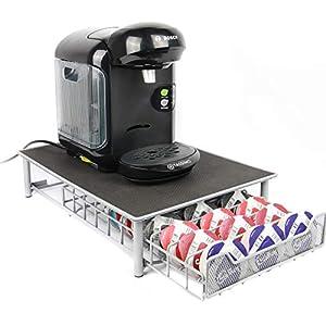 Maison & White Tassimo 60 Pod Holder | Supporto per cassettiera e porta-caffettiera