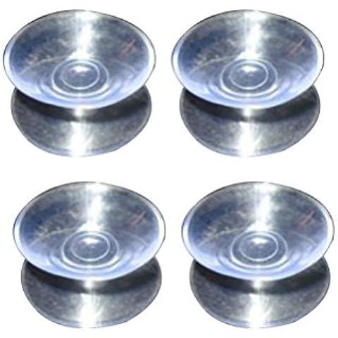 LEORX 10pcs Double Sided Ventose–Sucker pastiglie per vetro, plastica–larghezza 30mm