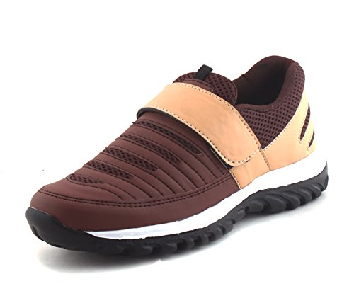 Fucasso Men's Synthetic Brown Sports Shoes - 8 UK