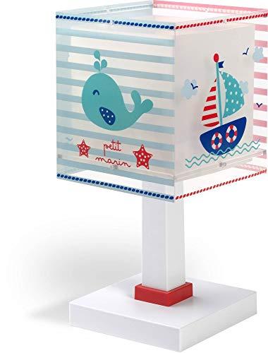 Dalber 43421Lampe de table Petit Marin en plastique bleu 13,5x 13,5x 29cm
