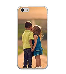 Printvisa Girl And A Boy Childhood Affection Back Case Cover for Apple iPhone 5::Apple iPhone 5S
