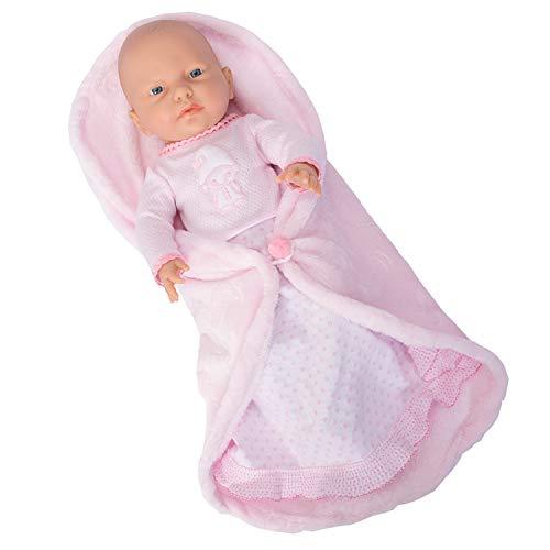 Falca RN New Born Baby NIÑA Manta Cambiador. Muñeca de Vinilo Cuerpo Blando y Muy Realista