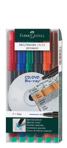 Faber Castell 152483 – Pack de 6 marcadores permanentes
