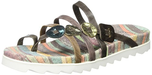 Think 80392, Ciabatte Donna Multicolore (stone/kombi 46)