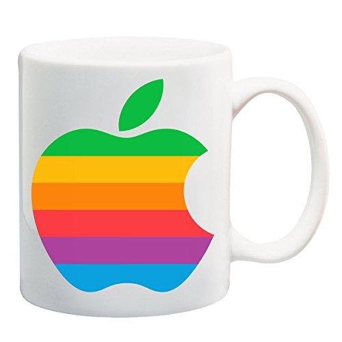 Steve Jobs Rainbow Apple T-Shirt Mug