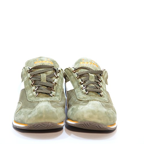Diadora Equipe Stone Wash 12, Chaussures Basses Mixte Adulte Vert