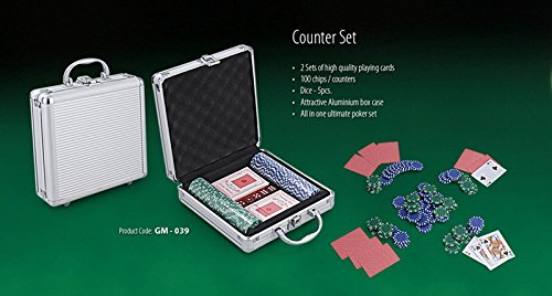 Poker Set of 100 Chips By House of Gift  available at amazon for Rs.599