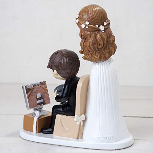 Zoom IMG-1 mopec statuetta sposi e giocare