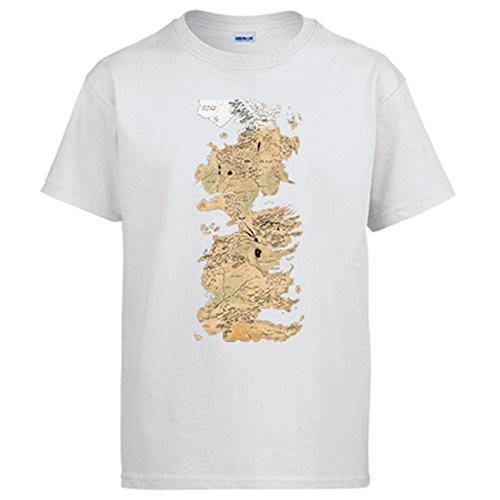 Camiseta Game Of Thrones Juego Tronos mapa Westeros