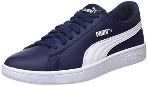 PUMA Unisex Smash v2 L Peacoat White Sneakers