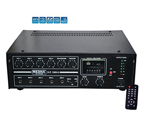 Medha D.J. Plus Professional 160 Watt Power Amplifier With Digital Media Plaer