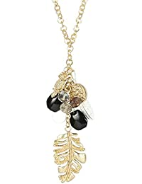 MUCH MORE Unique Gold Tone Fashion Pendant With Multi Stone Jewellery For Women's