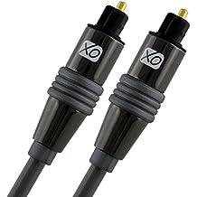 XO Cavo Ottico Digitale Toslink 2m / 2 Metri – adatto per PS3, PS4, XBOX One, SkyHD, LCD, LED, Plasma, Blu-ray, Sistemi Home Cinema, AV Amps