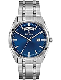 Bulova Men's 'Classic' Quartz Stainless Steel Casual Watch, Color:Silver-Toned (Model: 96C125)