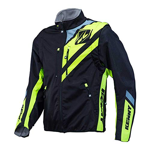Kenny Softshell Enduro Jacket Black/Neon Yellow-L -