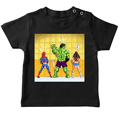 Okiwoki T-Shirts Avengers parodique Wonder Woman, l'incroyable Hulk et Spider-Man : Amazing. Incredible. Wonder.ful ! (Parodie Avengers)