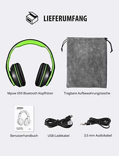 Mpow Bluetooth Kopfhörer Over Ear, [Bis zu 20 Std] Kabellose Kopfhoerer mit Hi-Fi Stereo mit Dual 40mm Treiber, CVC 6.0 Noise Canceling für Integriertem Mikrofon Freisprechen - 8