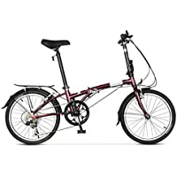 Monociclos Bicicleta Plegable Bicicleta Unisex Juego de Ruedas de 20 Pulgadas Bicicleta portátil Ultraligera (Color : Red, Size : 151 * 28 * 103cm)