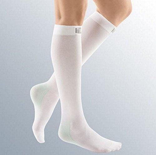 MEDIVEN Thrombexin Kompressionsstrümpfe 18mmHg Schutz Kompression unten Knie Strümpfe/Socken, Größe L, 1Paar (Unten Socke)