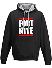 Taurus New Run DMC Parody Fortnite Gamers Gaming Contrast Hood Hoodie PS4 Xbox