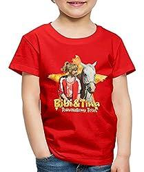 Bibi Und TinaTohuwabohu Total Sabrina Kinder Premium T-Shirt, 134/140 (8 Jahre), Rot