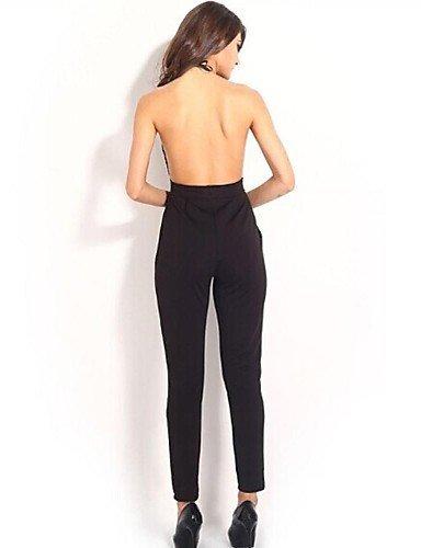 GSP-elonbo v cou sexy bretelles coupe-bas les femmes franchissent les combinaisons étanches de style dos nu black-m