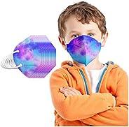 Huikeer 20 Unidades Niños De_Mascarilla_Desechable Cómodo Protector Bufanda -Moda 5 Capa Elástico Earloop Neck
