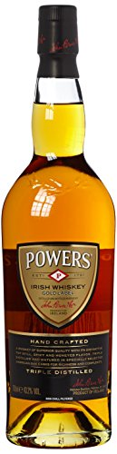 John Powers Gold Label Irish Whiskey - Außergewöhnlicher blended Irish Whisky aus Single Pot Still & Grain Whiskeys - 1 x 0,7 L