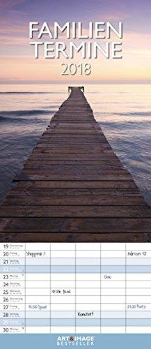 Glücksmomente 2018 - Familienplaner, 5 Spalten Familienterminkalender - 19,5 x 45 cm, Buch